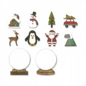 Sizzix Tim Holtz - Thinlits Die Set 11pk - Tiny Snowglobes - 663119